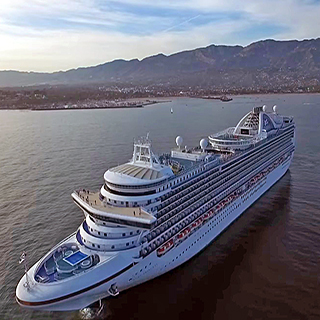 Drone Above the Cruise Ship